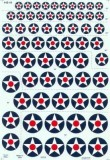 US. National Insignia Pre WWII Star Red Centre Dot