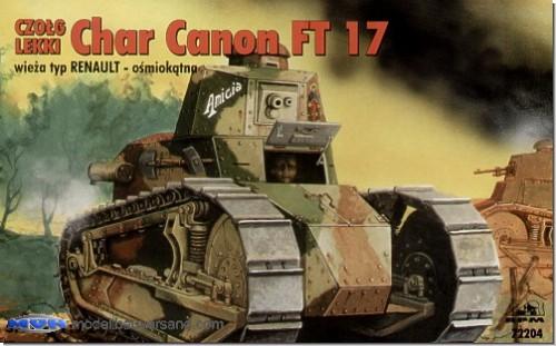 char canon renault ft 17 with renault turret modellbauversand hanke. Black Bedroom Furniture Sets. Home Design Ideas