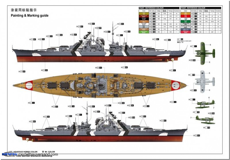 Schlachtschiff Bismarck 1941 Modellbauversand Hanke