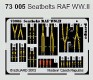 COLOR Sitzgurte / Seatbelts RAF WWII