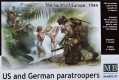 US and German Paratroopers, South Europe 1944