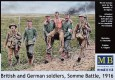 British & German Soldiers, Somme Battle (6  Fig.)